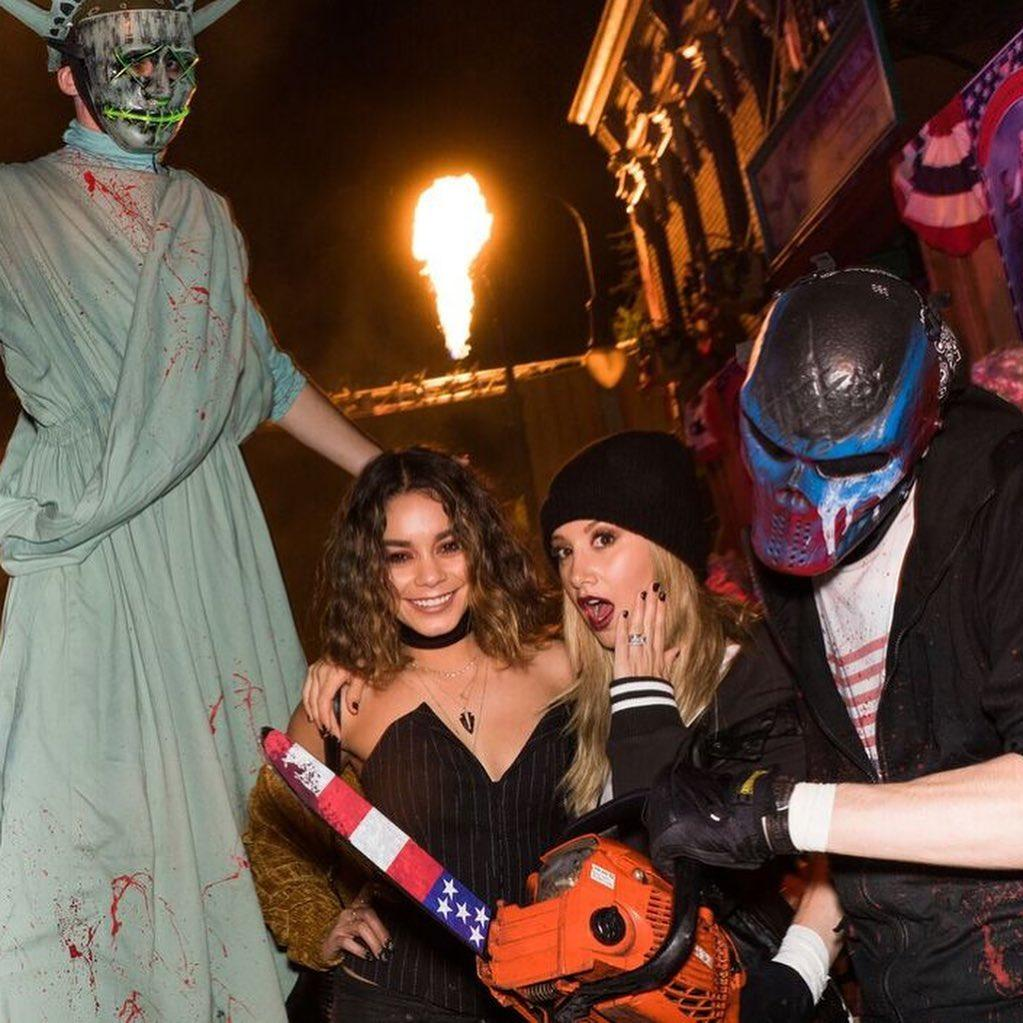 Vanessa Hudgens and Ashley Tisdale at fright night