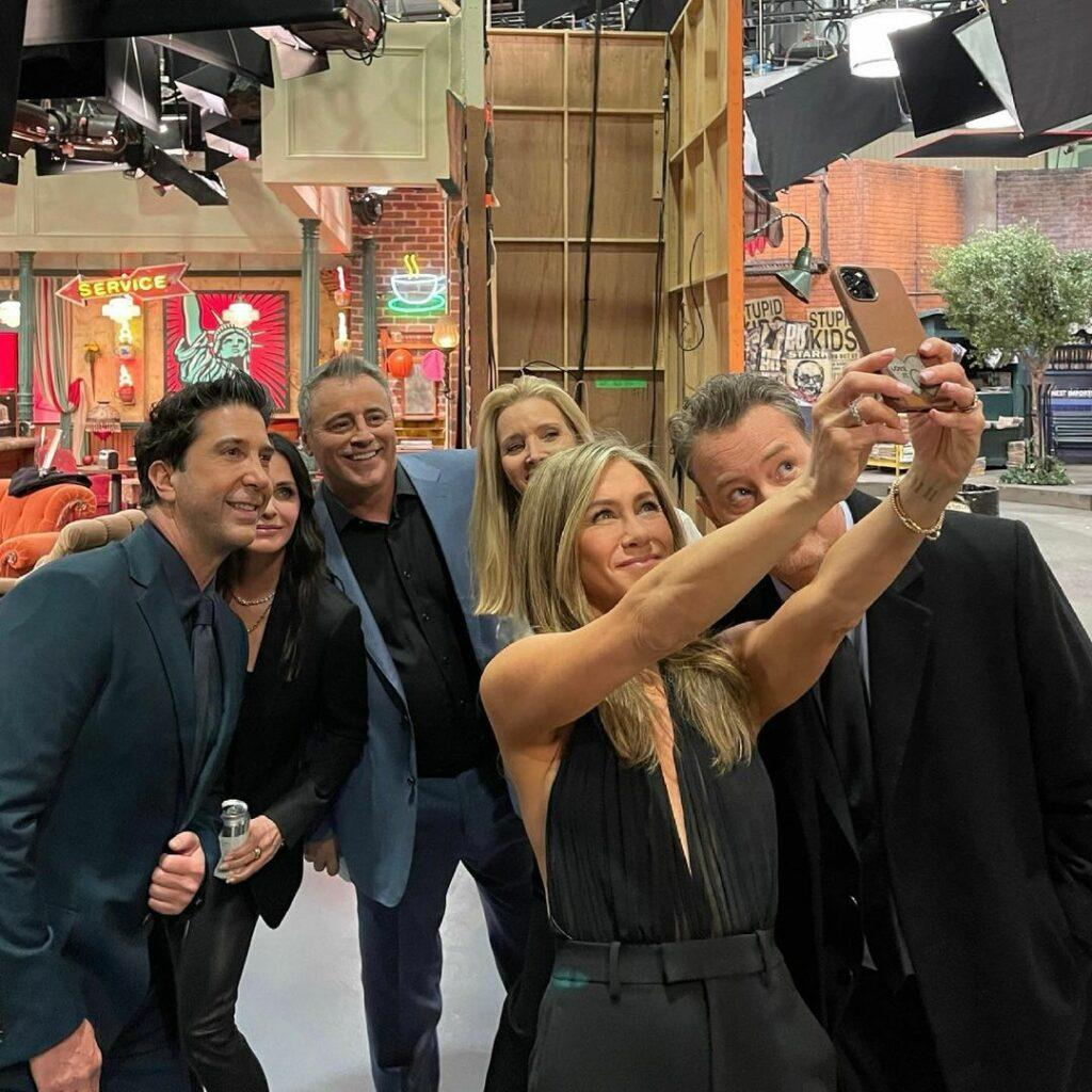 The cast of Friends at the reunion special