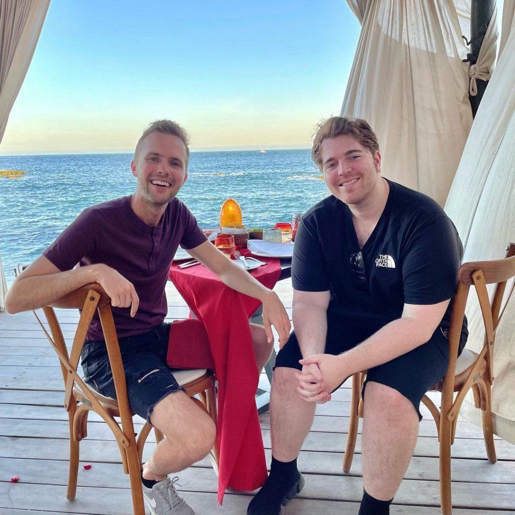 Shane Dawson & Ryland Adams in a tropical location