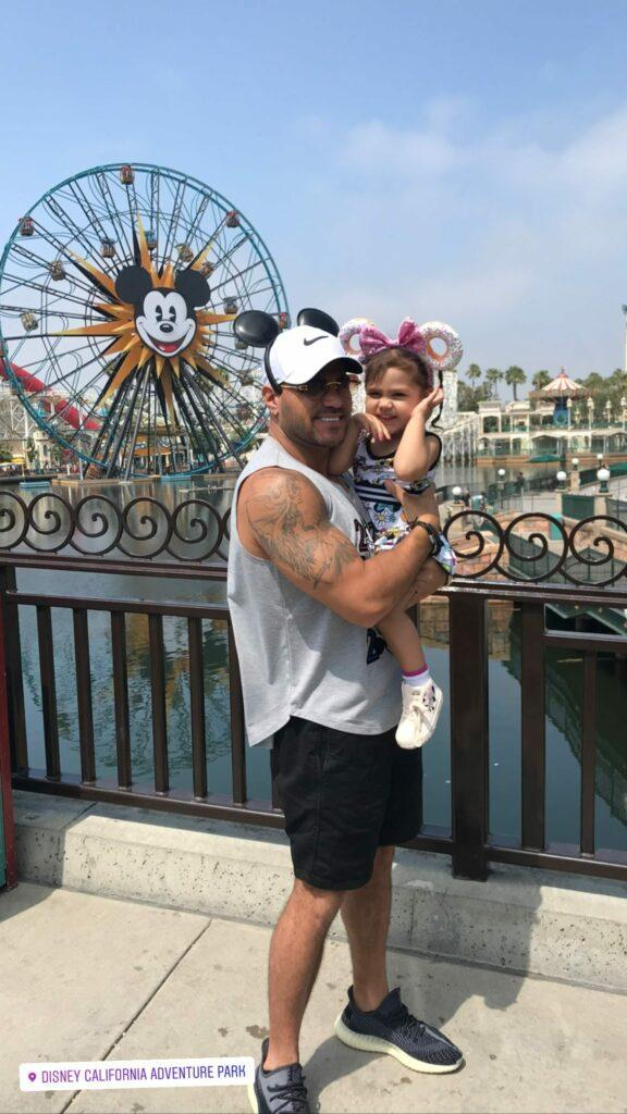 Ronnie and daughter at Disneyland