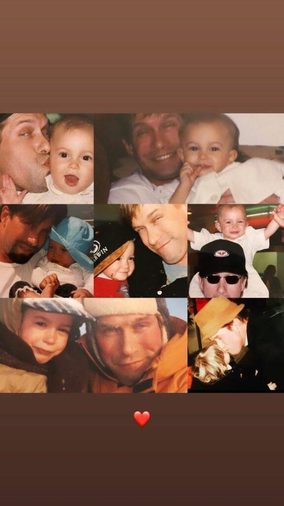 Hailey's Father's Day tribute