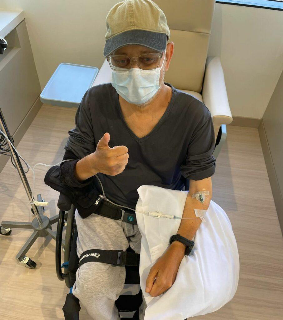 James Michael Tyler giving thumbs up