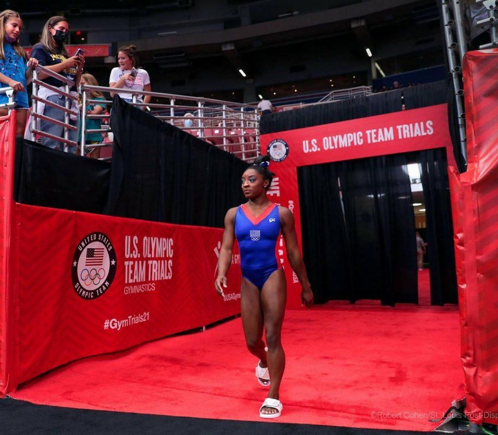 Simone Biles at Olympic Trials