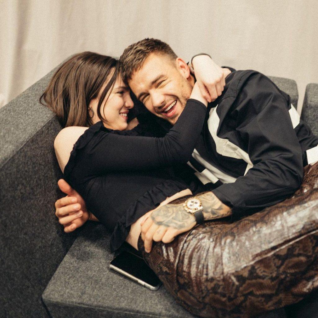 Liam Payne & Maya Henry cuddling