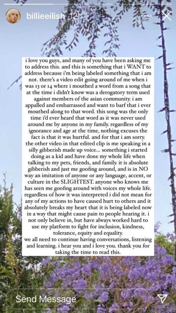 Billie's Apology
