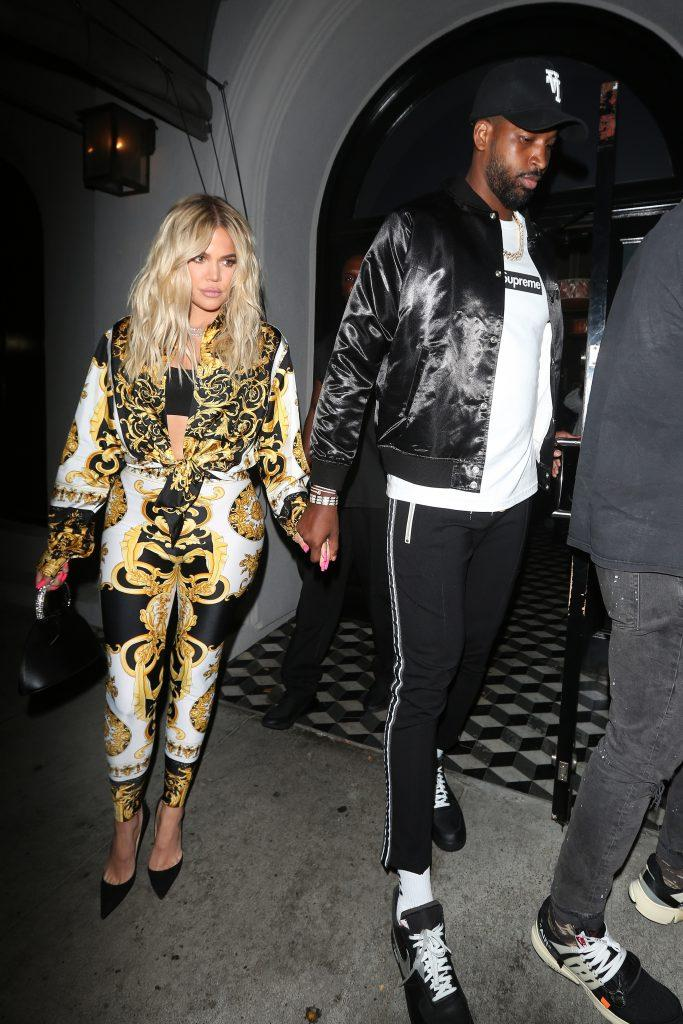 Khloe and Tristan leaving dinner in 2018.