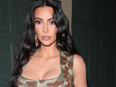 Kim Kardashian Flaunts Insane Curves In White Top And Satin Shorts In Rome