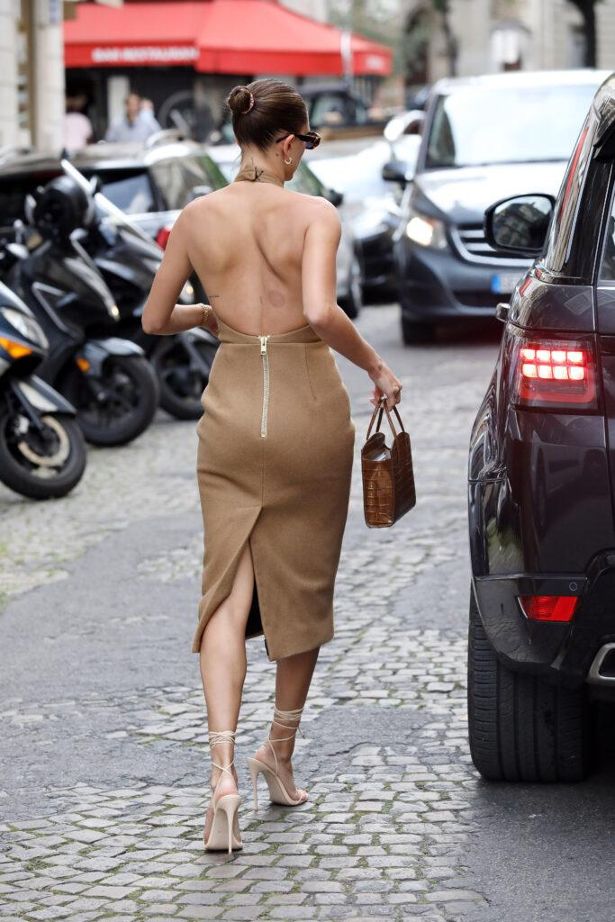Hailey Bieber leaving lunch in Paris