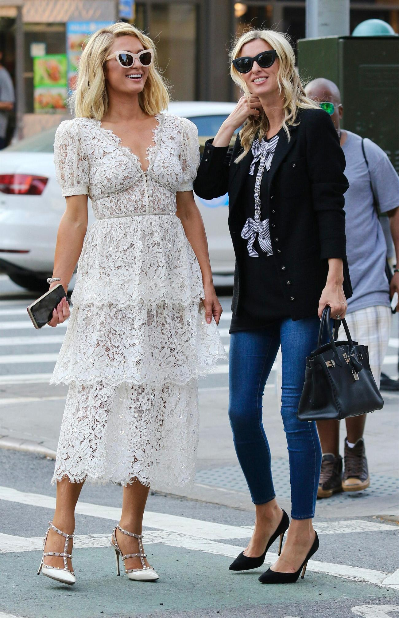 Paris and Nicky Hilton in NYC