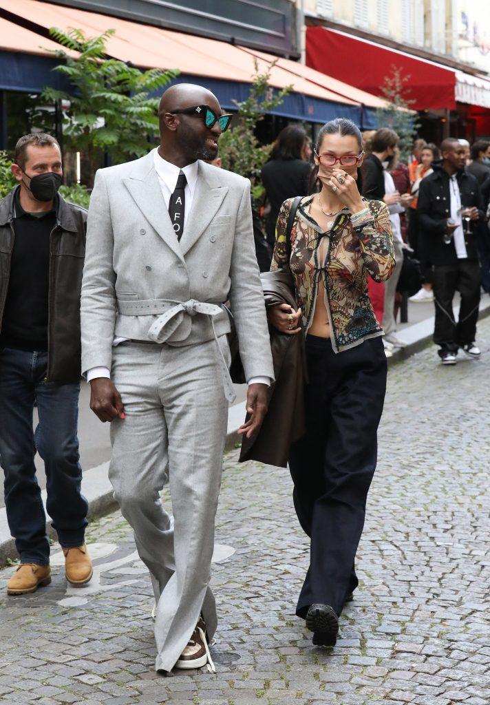 Bella Hadid had a drink with Virgil Abloh in Saint-Germain des Prés