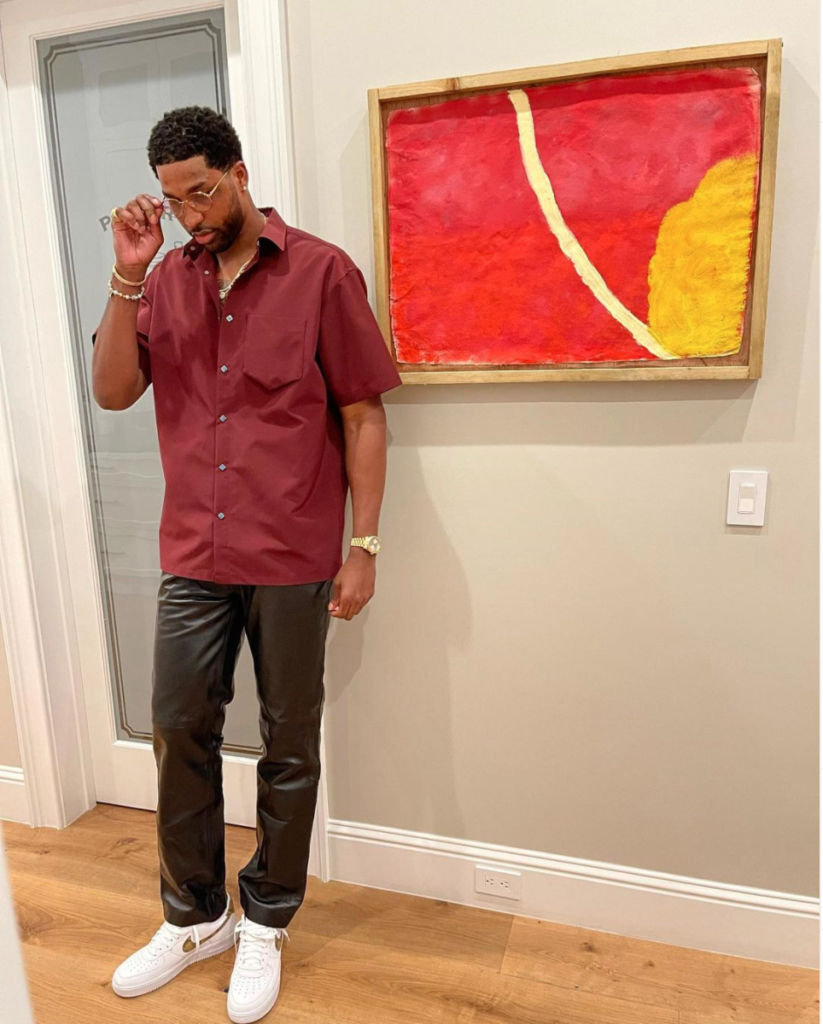 Tristan Thompson on the night of the party