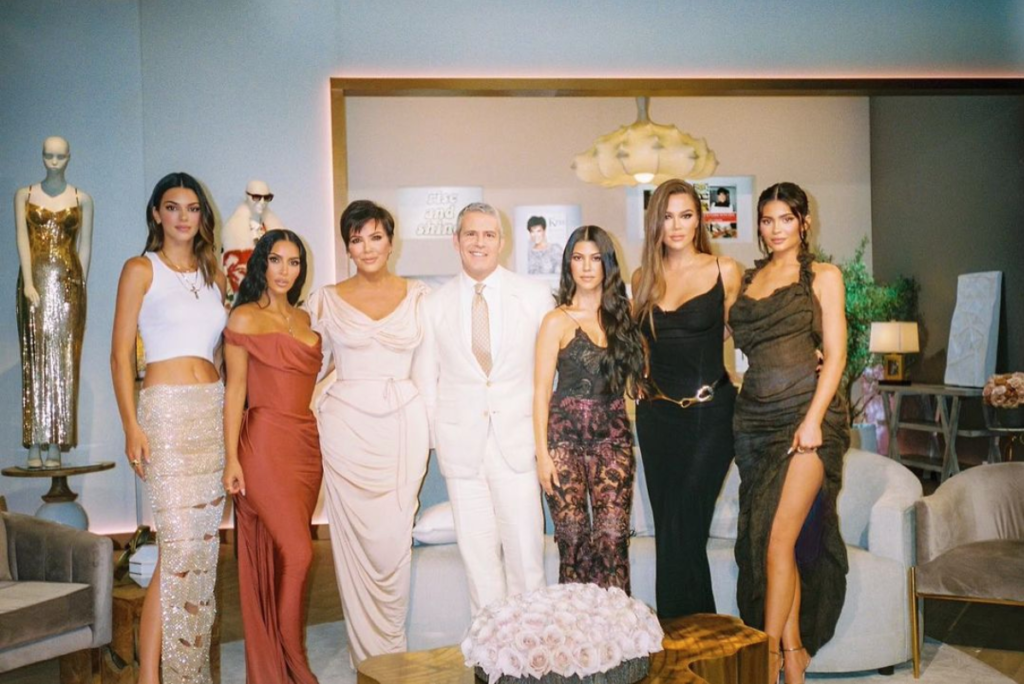 The Kardashian-Jenner women with Andy Cohen
