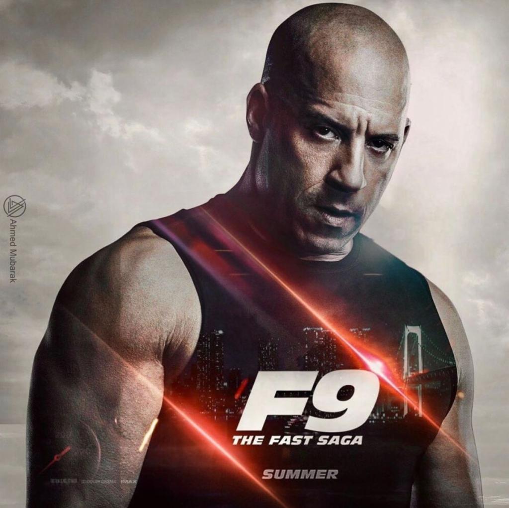 'F9' movie poster featuring Vin Diesel
