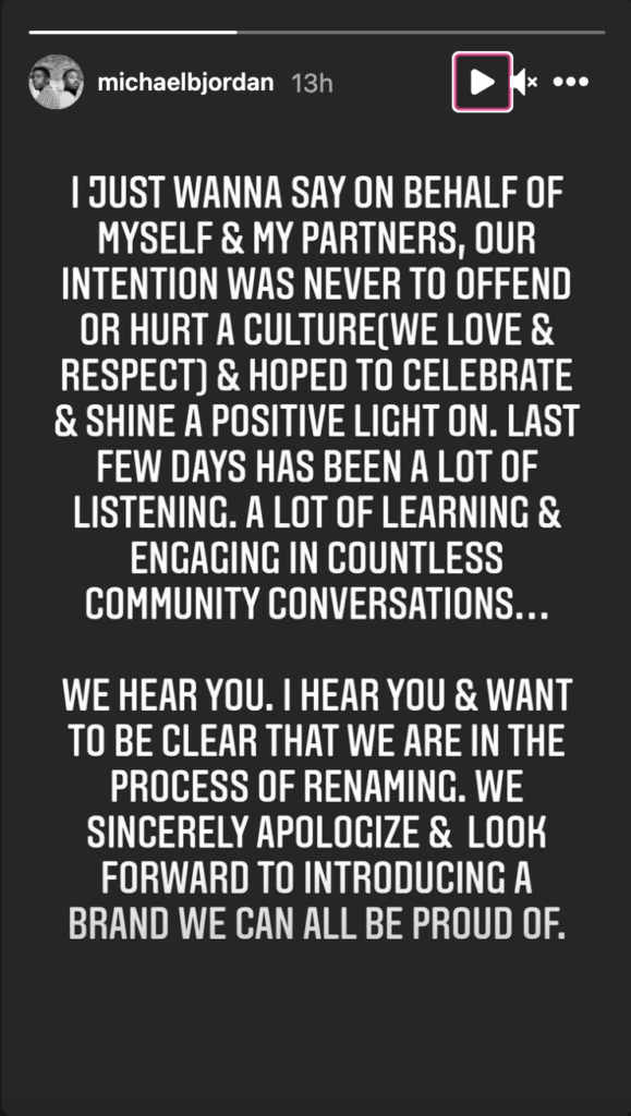 Michael B Jordan's Apology