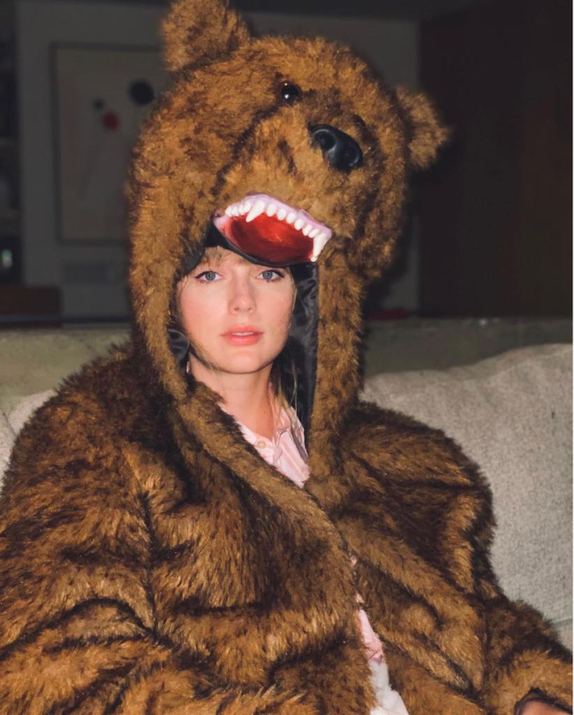 Taylor Swift in a bear suit