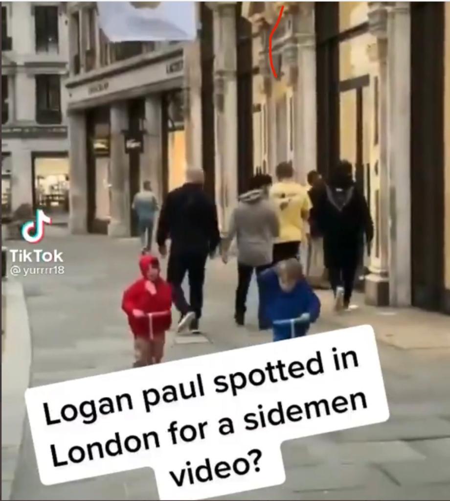 Logan Paul allegedly walking in England