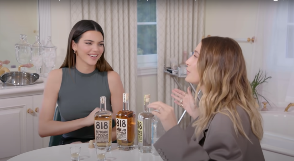 Kendall Jenner & Hailey Bieber on her YouTube channel