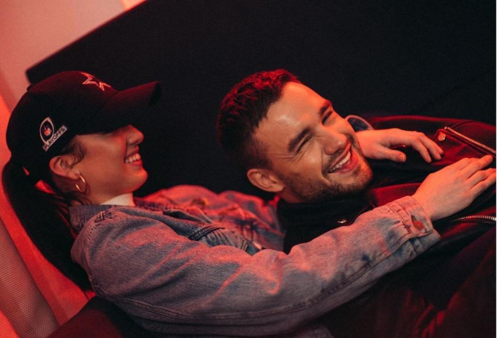 Maya Henry hugging Liam Payne