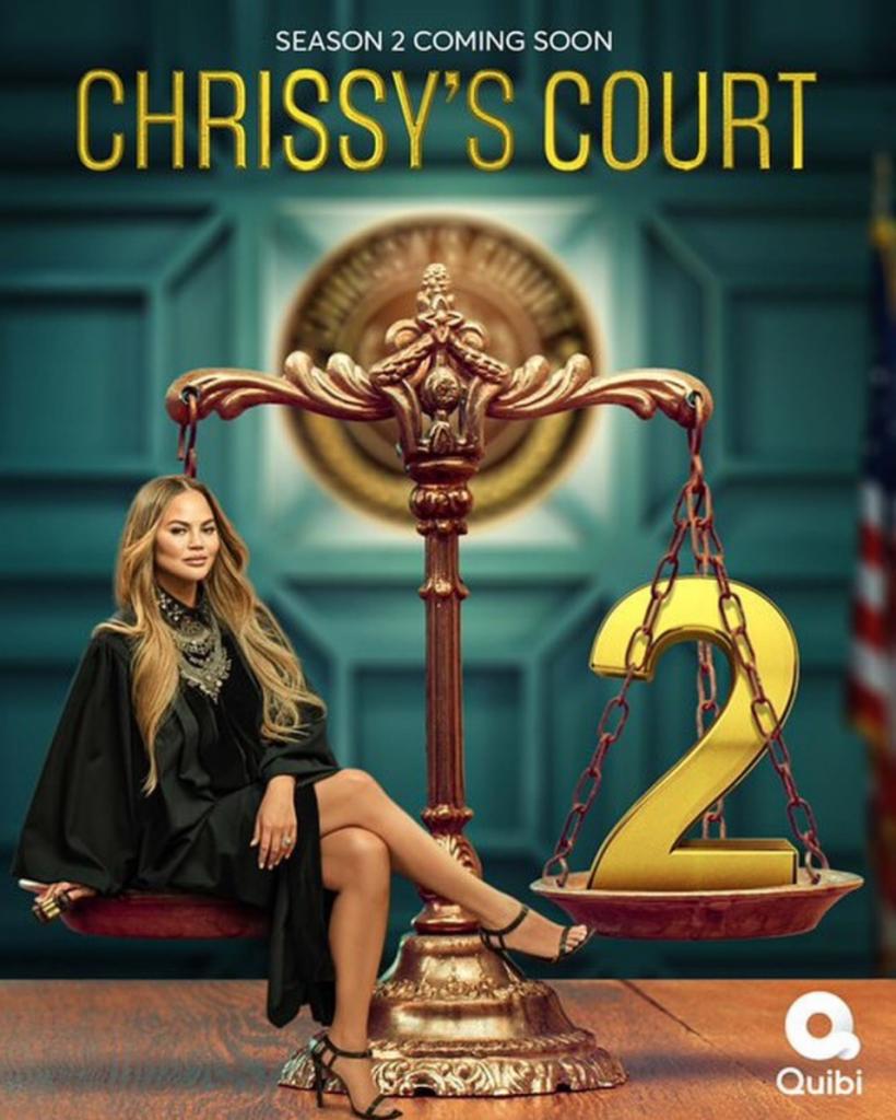 """Chrissy Teigen's promotional banner for """"Chrissy's Court"""""""