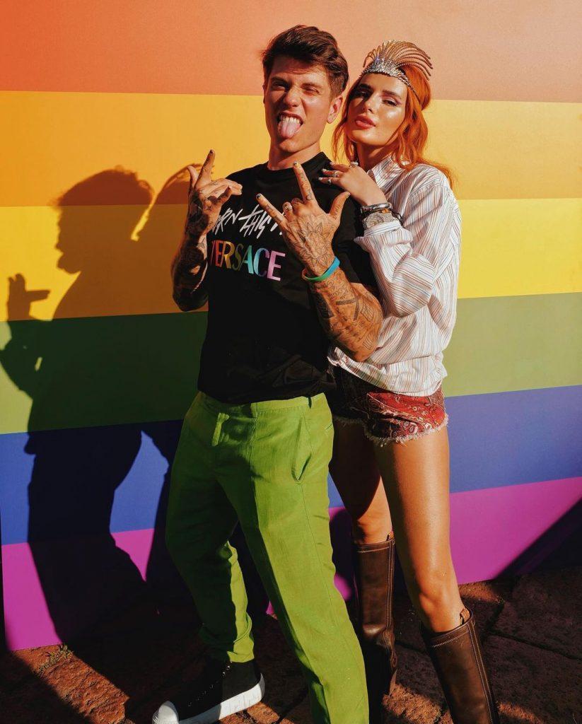 Bella Thorne and Benjamin Mascolo at Milan Pride
