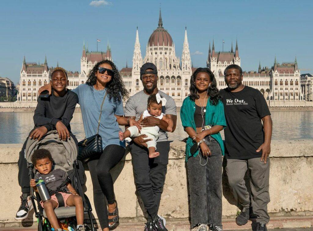 Kevin Hart and family in Budapest, Hungary