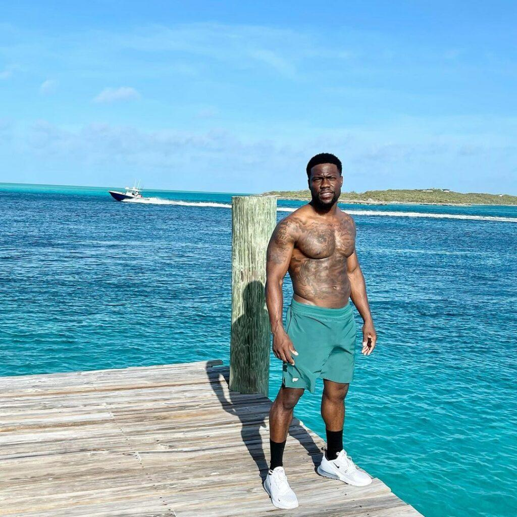 Kevin Hart in the Bahamas