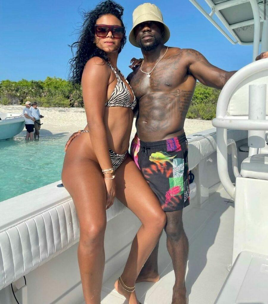Kevin Hart and his wife Eniko Hart in the Bahamas