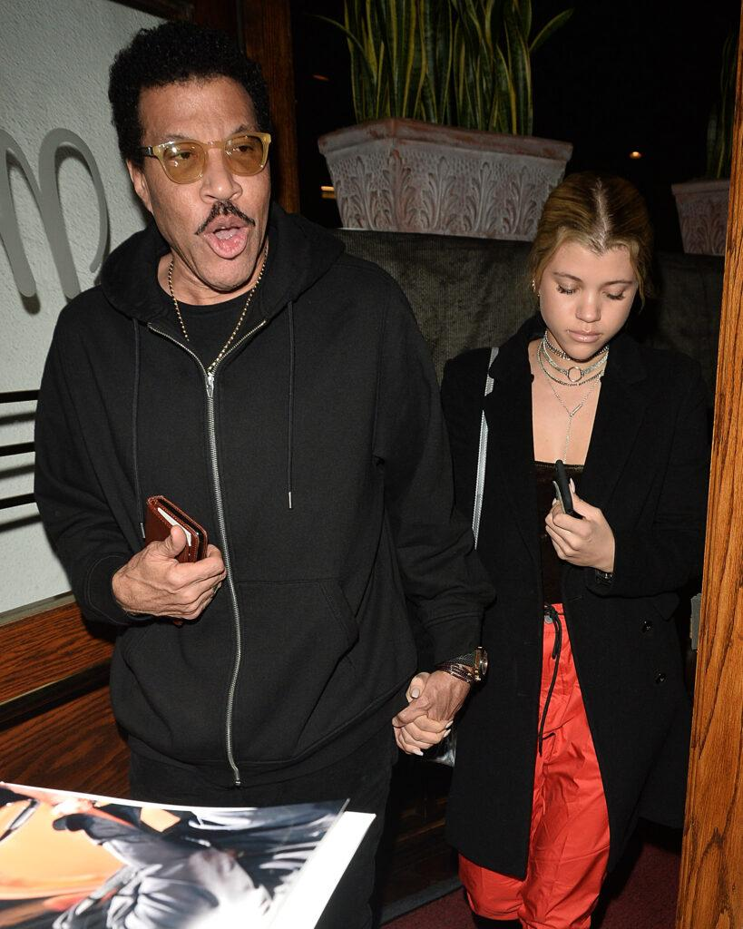 Sofia Richie and Lionel Richie Have Dinner at Madeos