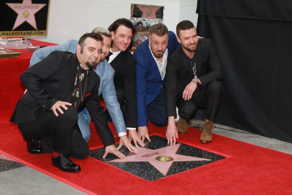 NSYNC get a star on The Hollywood Walk Of Fame