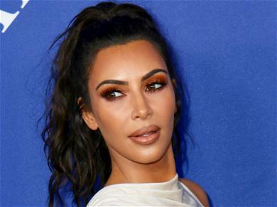 Kim Kardashian Looks Divine In A Black Slit Dress