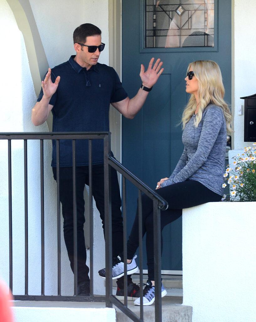 Christina El Moussa and Tarek El Moussa Film a Scene Together in Anaheim For Flip or Flop