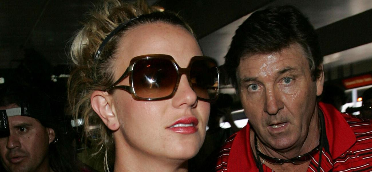Britney Spears and father Jamie catch a flight out of LAX airport