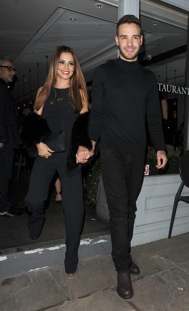 Cheryl Fernandez-Versini aka Cheryl Cole holds hands with her new boyfriend Liam Payne as they leave Salmontini restaurant in Belgravia having celebrated Cheryl apos s assistant Lily England apos s 30th birthday The pair arrived around 8 30pm and left at 1 30a