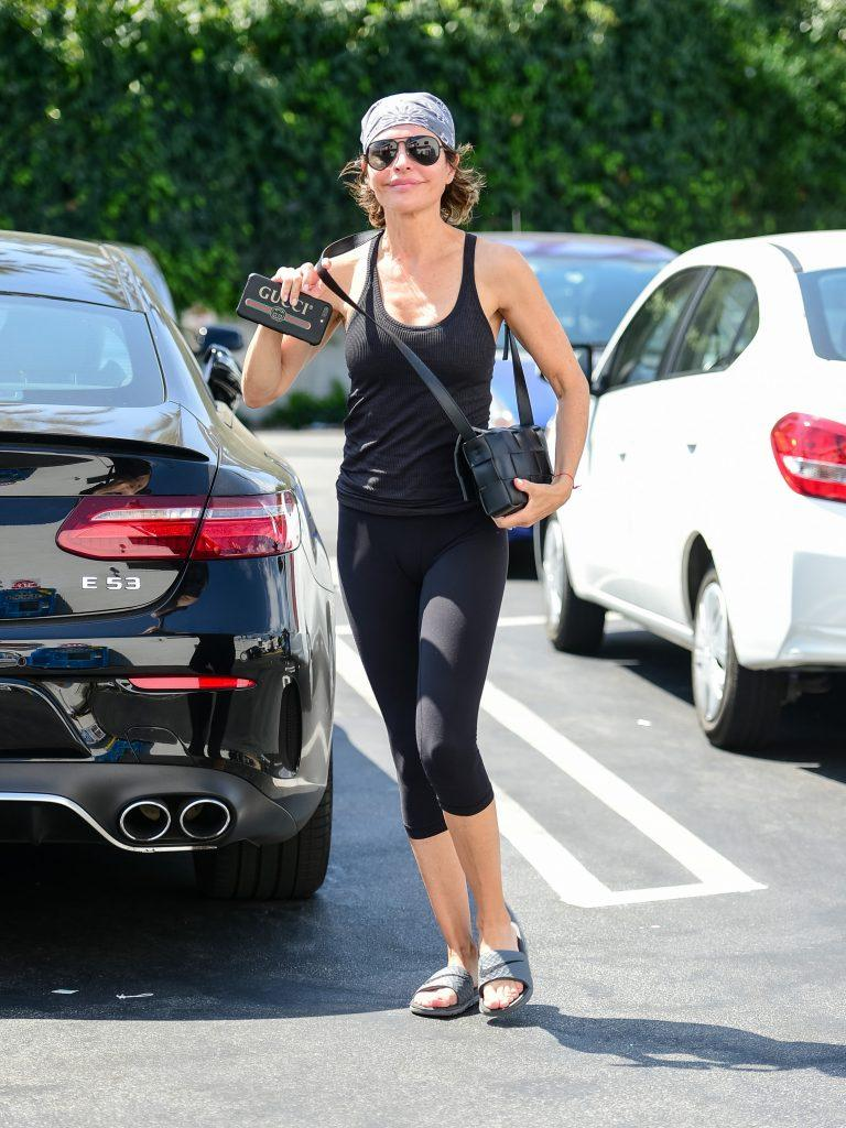 Lisa Rinna goes for a casual look in LA