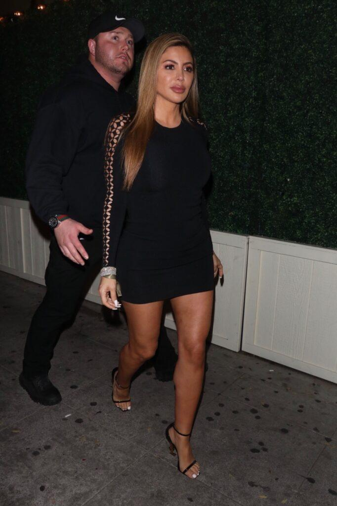 Larsa Pippen is seen wearing a tight dress as she leaves late from Delilah