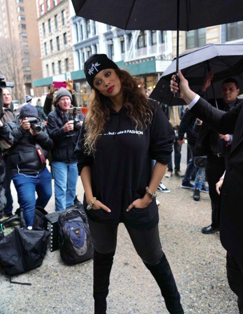Tyra Banks is seen arriving at Build Studios