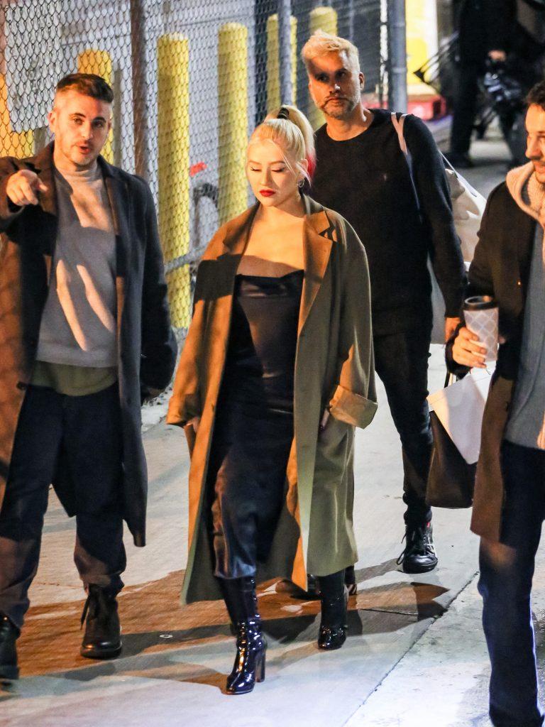 Christina Aguilera at apos Jimmy Kimmel Live apos