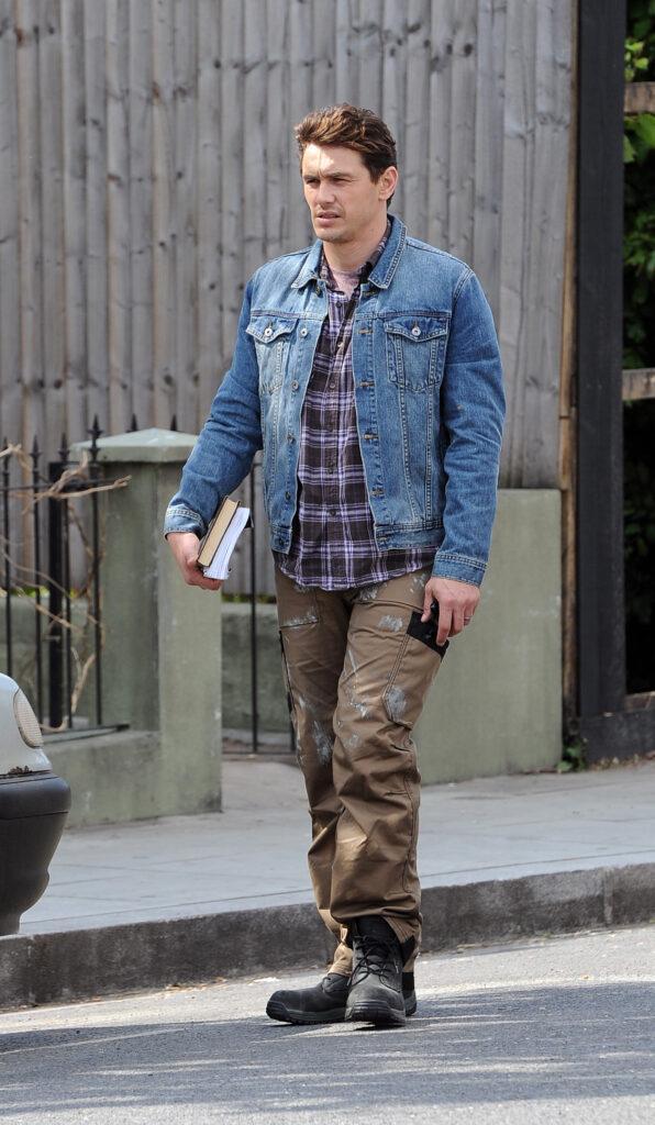 James Franco and Kate Hudson filming their new movie apos Good People apos on location in Shepherd apos s Bush