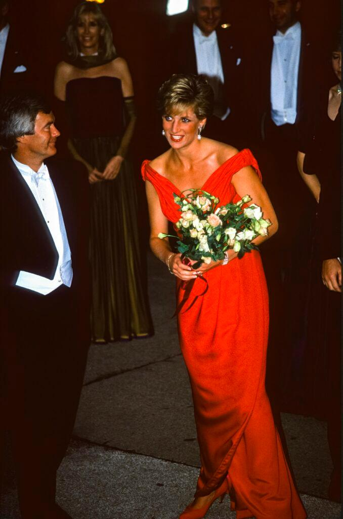 Princess Diana Attends the Royal Gala Evening to Benefit the London City Ballet