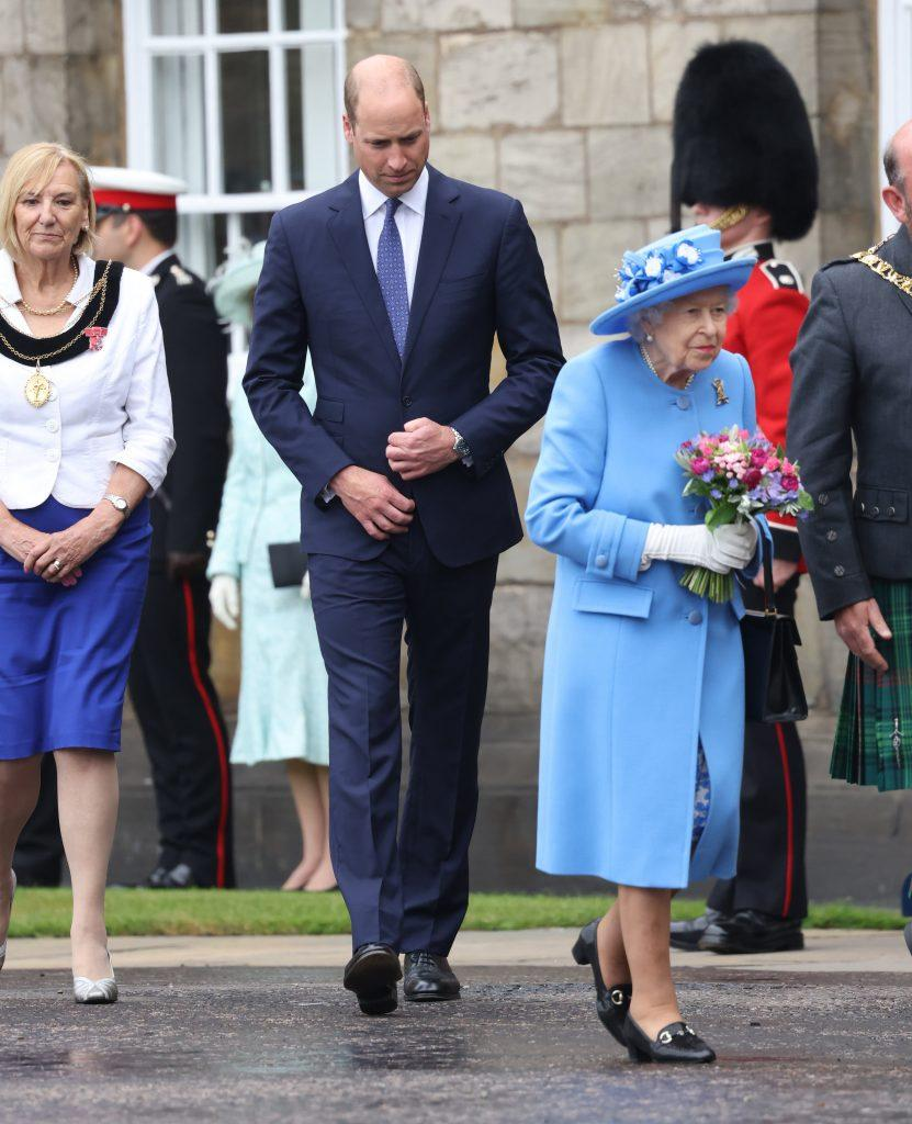 Queen Elizabeth and Prince William attend the ceremony of the Keys at Holyrood house