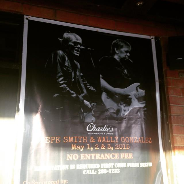 A photo showing Wally gonzalez and Pepe Smith on a poster