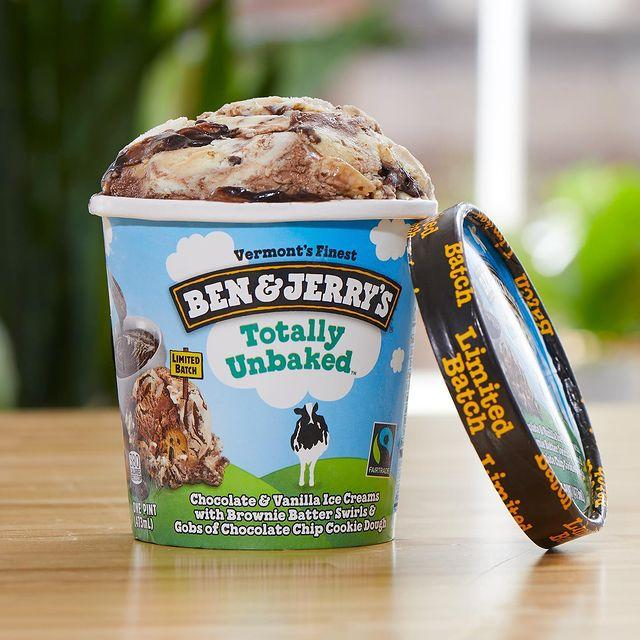 Ben and Jerry's totally baked ice cream