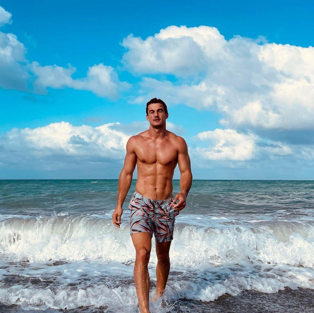 A photo of Tyler Cameron at the beach