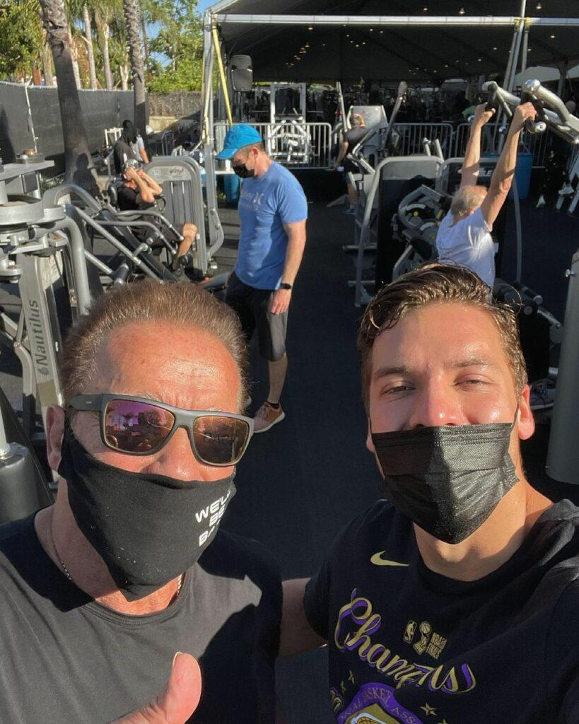 Arnold Schwarzenegger and Joseph Baena