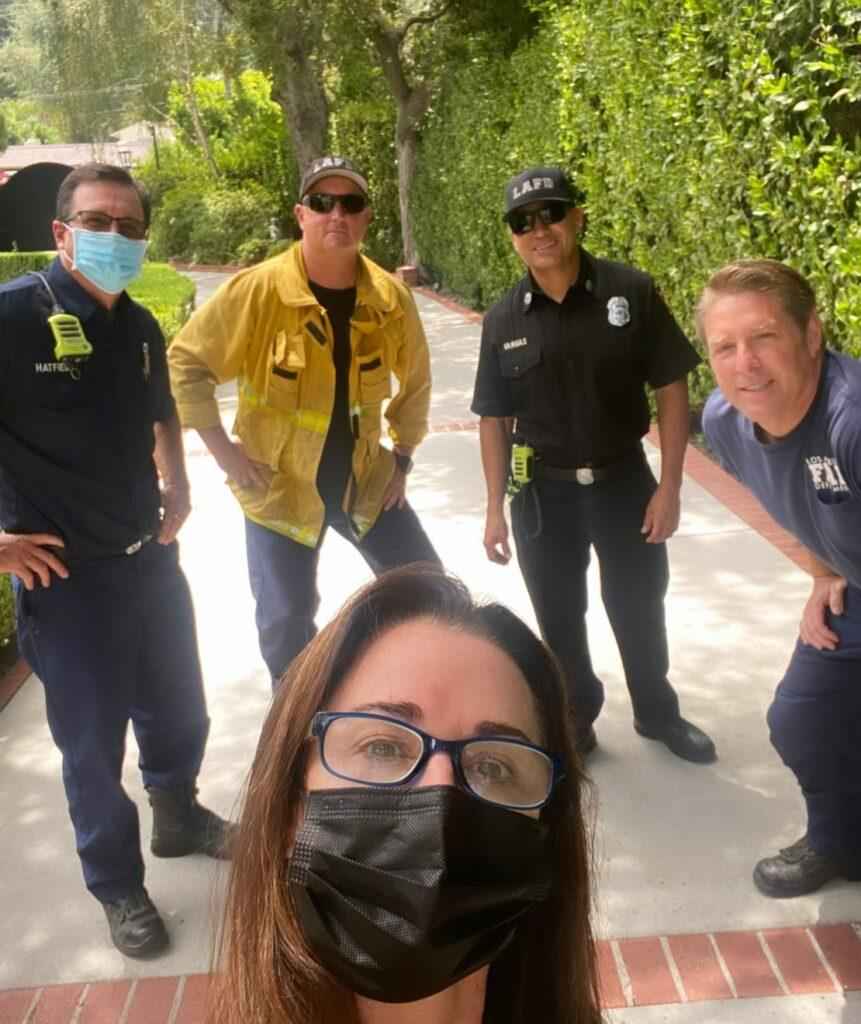 kyle richards with LAFD