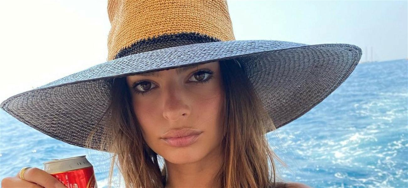 Emily Ratajkowski Wows In Printed Bikini In Sizzling Yacht Photos