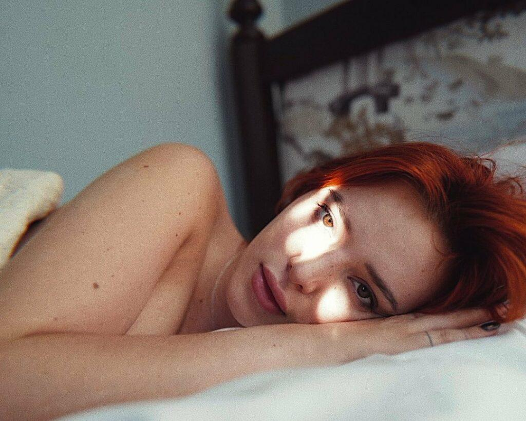 Bella Thorne in bed.