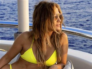 Jennifer Lopez Shows Off Insanely Chiseled Figure In Yellow Bikini While On A Yacht: 'Ciao'