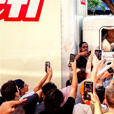 Travis Scott Mobbed In Miami While Giving Out CACTI Ahead Of Rolling Loud