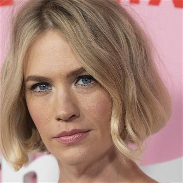 January Jones Looks Red Hot In One-Shoulder Top For Fun Friday Photo: 'Go Get Wet!'